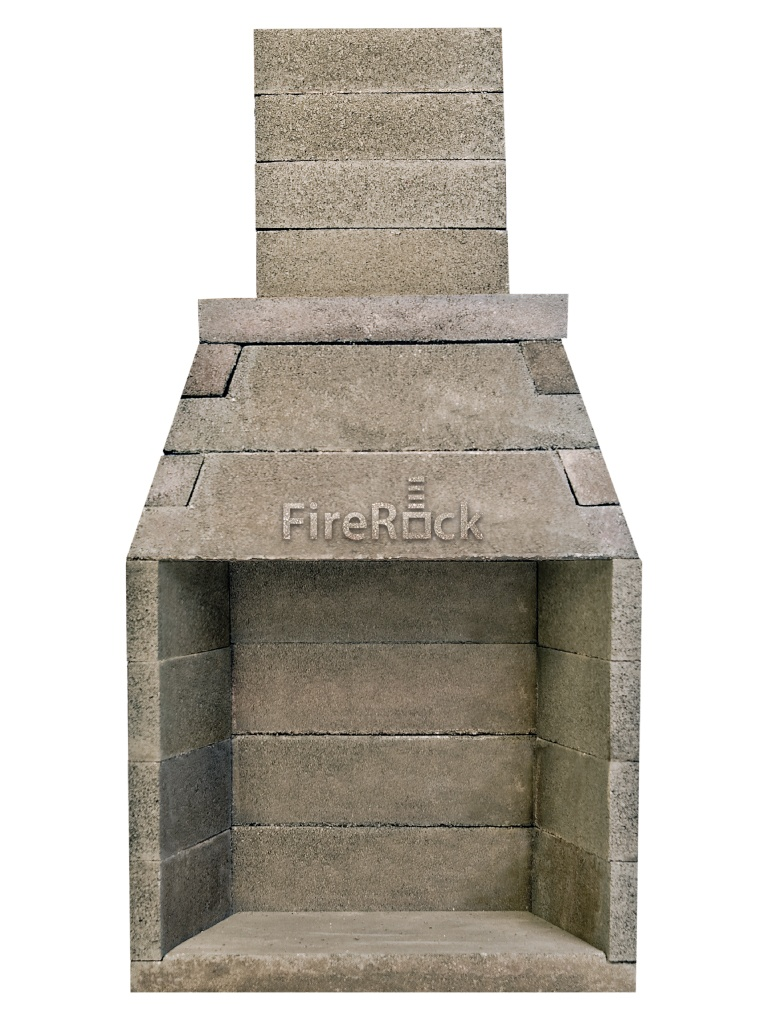 Raw Indoor Conventional Fireplace