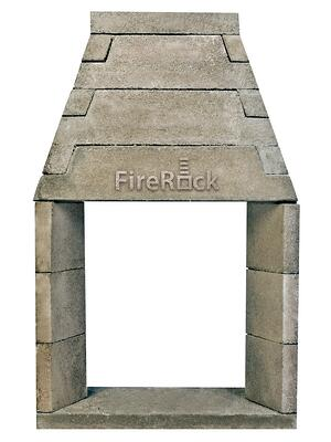 FireRock see through model fireplace