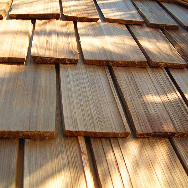 hand split and resawn cedar shake roofing