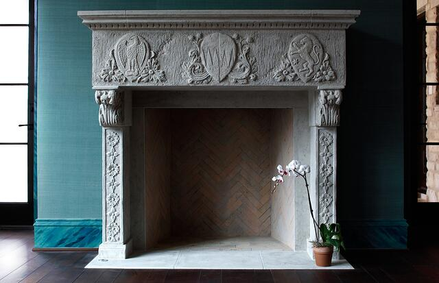 We began with pre-engineered masonry fireplaces