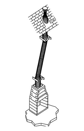 Masonry Fireplace Accessories - Metal Chimney System
