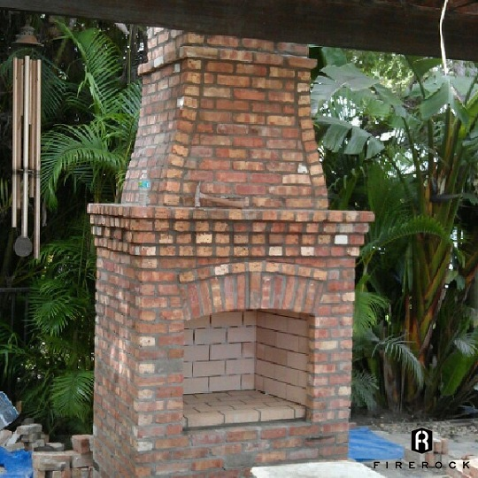 Coastal Outdoor Fireplace Installation