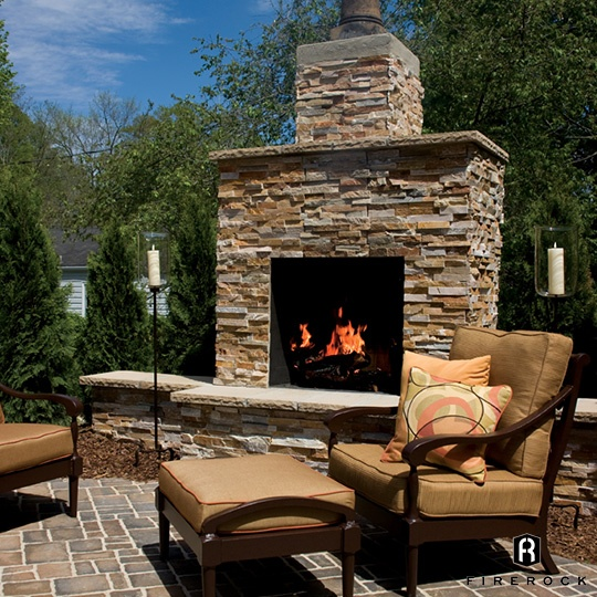 Modern Outdoor Rumford Fireplace Firerock Building Materials